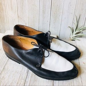 Handmade Italian Color-block Loafers